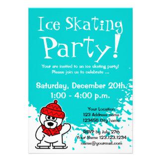 Ice skating party invitations Custom invites