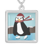 Ice Skating Penguin Necklace