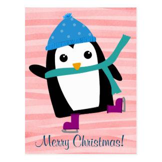 Ice Skating Penguin, postcards