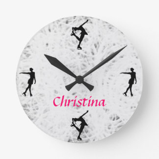 Ice Skating Personalized Clock