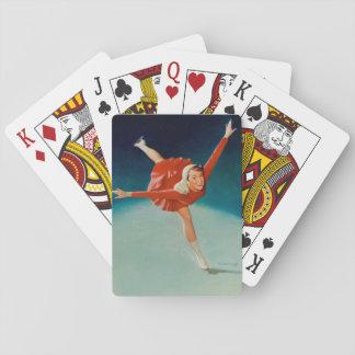 Ice Skating Pin Up Art Playing Cards