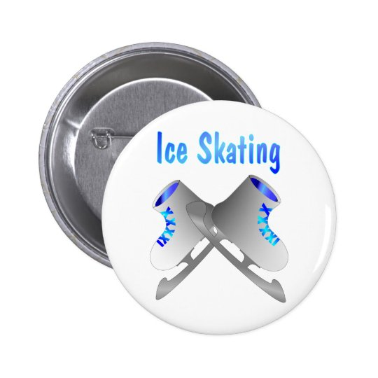 Ice Skating Pinback Button