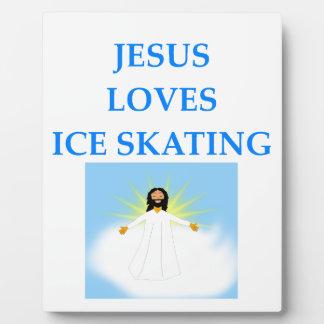 ice skating plaque