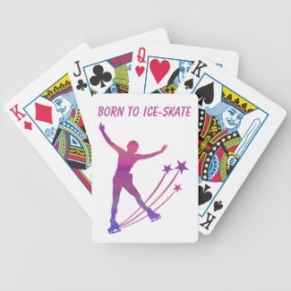 Ice skating playing cards - Born to ice skate