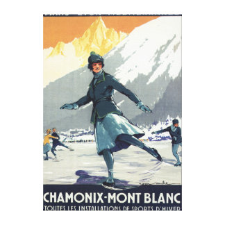 Ice Skating - PLM Olympic Promo Poster Canvas Prints