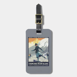 Ice Skating - PLM Olympic Promo Poster Luggage Tag
