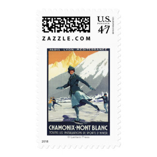 Ice Skating - PLM Olympic Promo Poster Postage