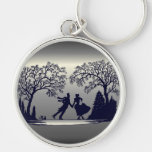Ice Skating Pond - Silhouette Keychain