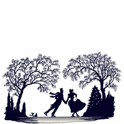 Ice Skating Pond Silhouette Photo Cut Outs Zazzle