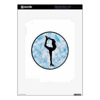Ice Skating Princess Decal For iPad 2