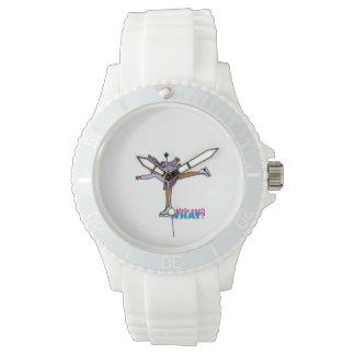 Ice Skating - Purple Wrist Watch