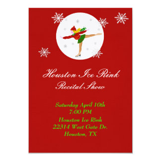 Ice Skating recital Invitation