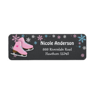 Ice Skating Return address labels