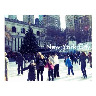 Ice Skating Rink at Bryant Park, New York City Postcard