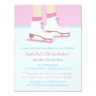 Ice Skating Rink Girls Birthday Party Invitations