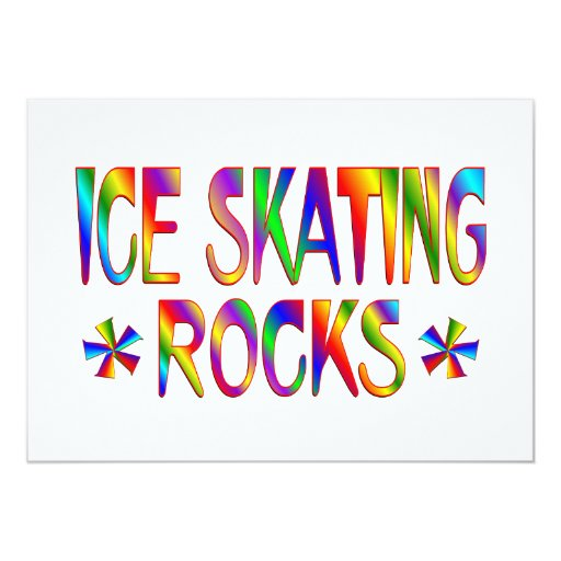 ICE SKATING ROCKS 5X7 PAPER INVITATION CARD