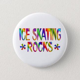 ICE SKATING ROCKS PINBACK BUTTON