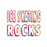 Ice Skating Rocks Post Cards