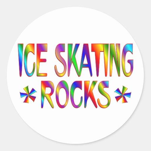 ICE SKATING ROCKS STICKERS