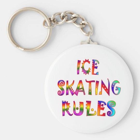 Ice Skating Rules Keychain