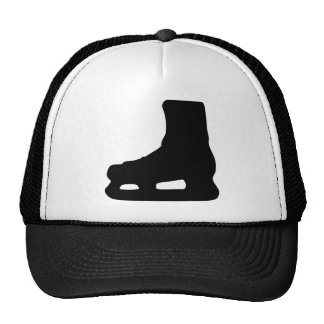 ice skating skates trucker hat