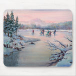 ICE SKATING & SNOWFLAKES by SHARON SHARPE Mouse Mats