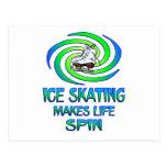 Ice Skating Spins Post Card