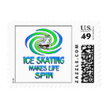Ice Skating Spins Postage Stamps