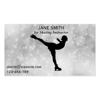 Ice Skating teacher freelance instructor Business Card