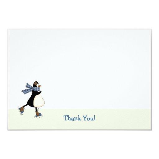 Ice Skating Thank You Notecard 3.5x5 Paper Invitation Card