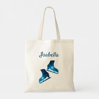 Ice Skating Tote Bag blue star best feeling