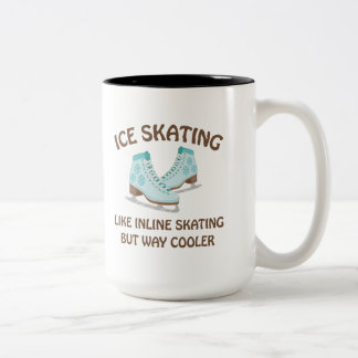 Ice Skating Two-Tone Coffee Mug