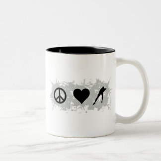 Ice skating Two-Tone coffee mug