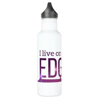 Ice skating water bottle live on edge purple stars