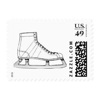 Ice Skating Winter Figure Skater Vintage Stamps