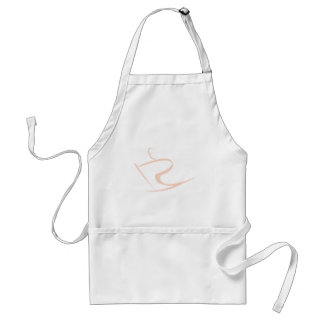 Ice Skier Icon Adult Apron
