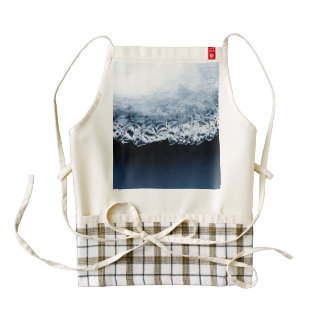 Ice, snow and moving water zazzle HEART apron