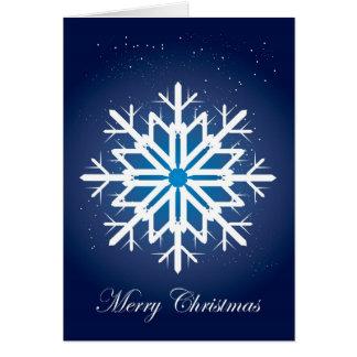Ice Snow Flake Greeting Card