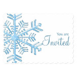 Ice Snowflake Winter Dinner Party Invitation 1