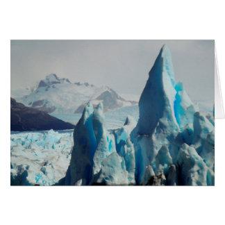 Ice Spikes In The Perito Moreno Andean Glacier Card