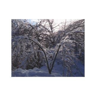 Ice Storm Photo Canvas Art Print Michigan