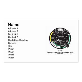ICE-Tea (True Airspeed Indicator) Business Card Template