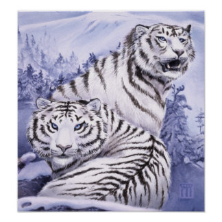 Ice Tigers print