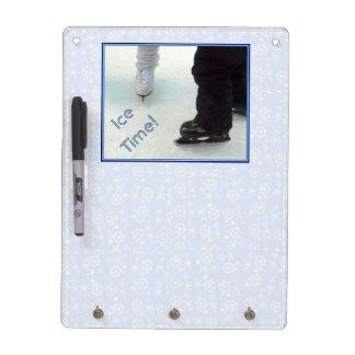 'Ice Time!' Dry Erase & Key Board