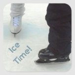 'Ice Time!' Stickers Square Sticker