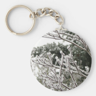 Ice Tipped Basic Round Button Keychain