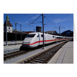 ICE train in Cologne in Germany Card