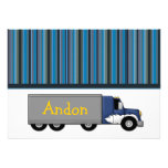 Ice Trucker Flat Thank You Card Personalized Invitation