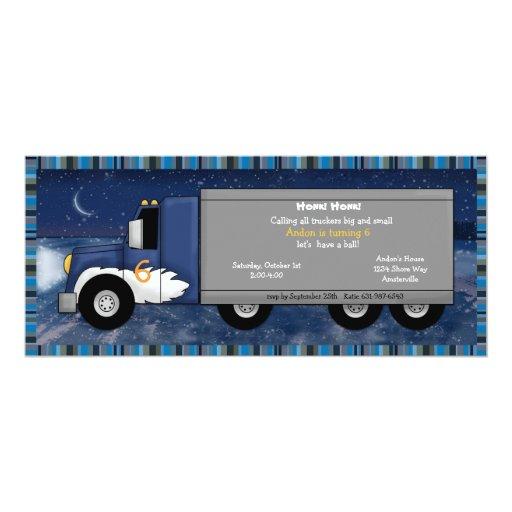 "Ice Trucker Invitation 4"" X 9.25"" Invitation Card"