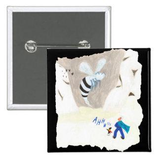 Ice Wasp Mountain Pinback Button